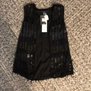 French Connection Sequin Vest